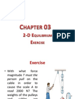 Chapter 03 Equilibrium- 2D Exercise