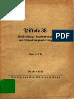 """H.Dv.254"" Pistole 38"