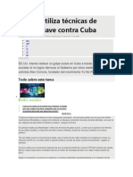 Golpe de Estado Contra Cuba