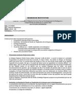 Compte Rendu de La Restitution Du 15 Octobre