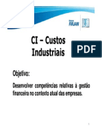 Custos Industriais Aulas 1 2 3