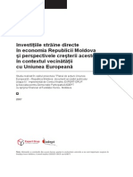 Investitiile Straine Directe in Economia Republicii Moldova Si Perspectivele Cresterii Acestora in Contextul Vecinatatii Cu Uniunea Europeana (1)