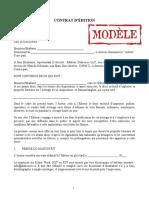 Contrat-type des Éditions Dédicaces