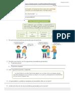 Guía Lenguaje y Comunicación pronombres