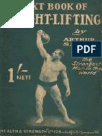 Arthur Saxon - Textbook of Weightlifting