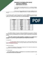 Normativa Técnica y Proyecto de Horario Cto. Andalucia sub20 en pista cubierta