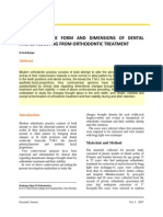 Changes in the Form and Dimensions of Dental