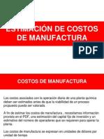 Costo de Manufactura de Una Empresa Quimica