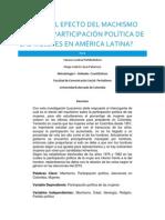 Cuál es el efecto del machismo sobre la participación política de las mujeres en AMÉRICA LATINA