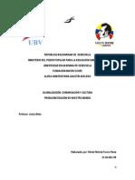 Trabajo Tema I. Problematización de nuestro mundo Lunes 19-03-2014