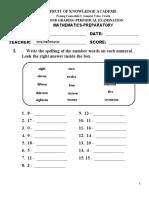 Fka 2nd Grading Math Prep