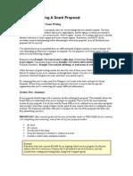 Basics of Writing a Grant Proposal