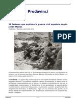 11 factores que explican la Guerra Civil Española