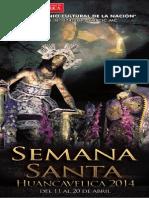 Programa Semana Santa Huancavelica 2014