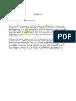 first summary vocabulary page