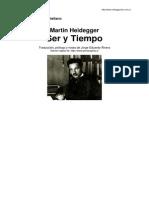 Ser y Tiempo Heidegger