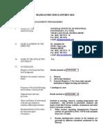 Mandatory Disclosures 2012
