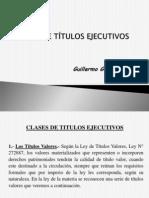 3. Clases de títulos ejecutivos