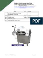 Sirloin Bowl Cutter TCM65A 020314