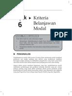 Topik 6 Kriteria Belanjawan Modal