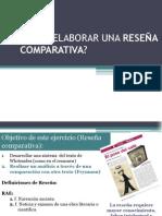 Cómo elaborar una reseña comparativa 2013-II