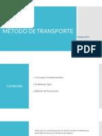 MÉTODO DE TRANSPORTE-Presentación investigación de operaciones
