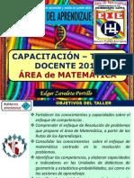 Capacitación Taller_Rutas de aprendizaje_área de matemática_2014_ed