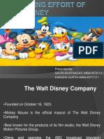 A Branding Effort of Walt Disney