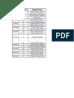 Business Ethics Schedule