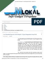 Cara Menambah Kapastias RAM Menjadi 2 X Lipat Menggunakan Swap RAM - GSMLokal