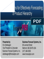 Forecast Pro Multiple Level