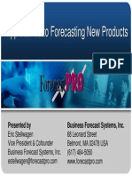 Forecast Pro New Product