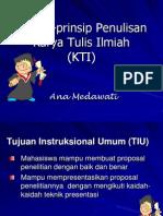Prinsip-prinsip Penulisan Karya Tulis Ilmiah (KTI).ppt