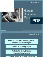 Human resource management - Chapter one