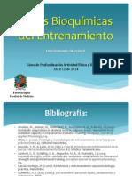 Bases Bioquímicas del entrenamiento