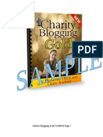 Sample of Charity Blogging Gold e-course