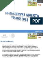 Presentación Escuela Siempre Abierta_2013
