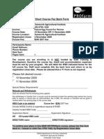 Short Course Fax Back Form