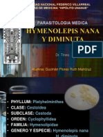 Hymenolepis Nana y Diminuta