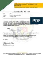 SBMSC Memorandum 002 1415