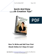 Quick and Easy E-Book Creation Tips