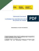 Valoracion de Lumbalgia Despues Del Tratamiento