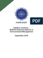 EDip Sep 2010 Syllabus summary 1010111010201159118