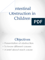Intestinal Obstruction in Children