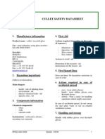 Cullet Safety Datasheet