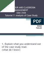 Tutorial 7 Analysis Case