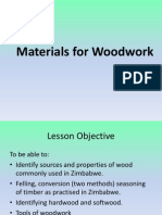 Materials for Woodwork