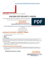 Building Site Security in London