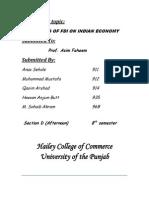 impact of FDI on Indian economy