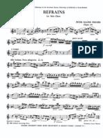 Fricker - Refrains for Solo Oboe